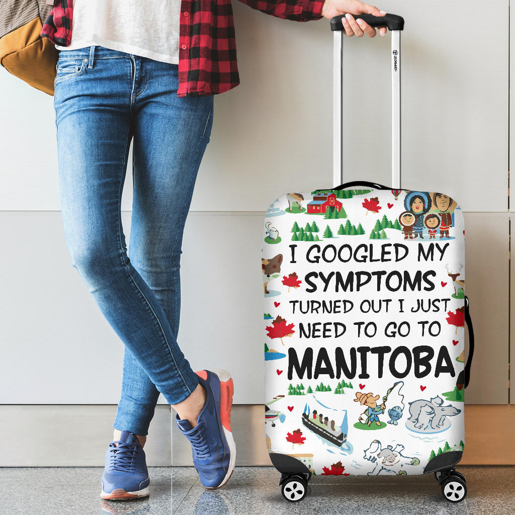 I Just Need To Go To Manitoba Luggage Covers