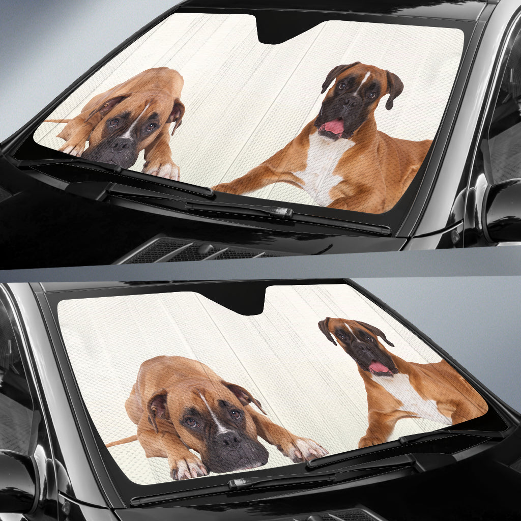 Boxer Dog Auto Sun Shades