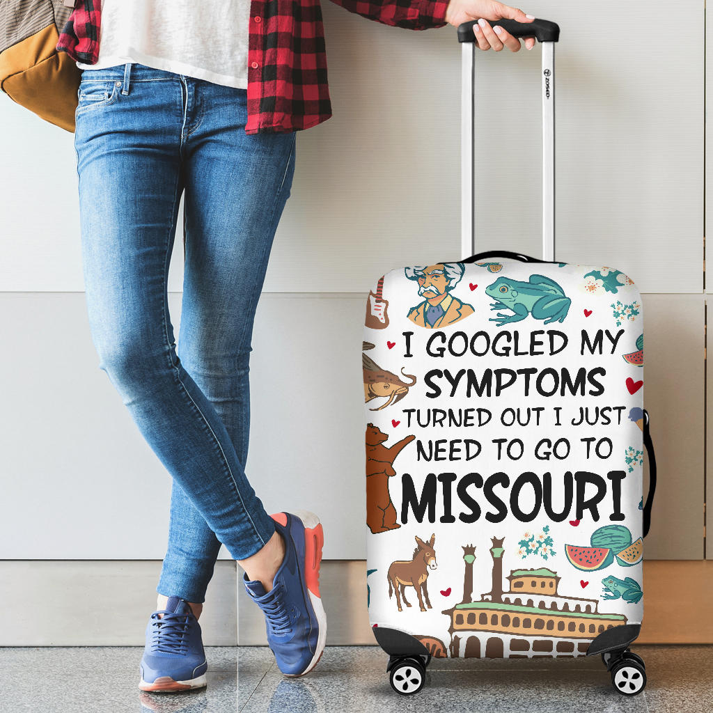 I JUST NEED TO GO TO MISSOURI LUGGAGE COVERS