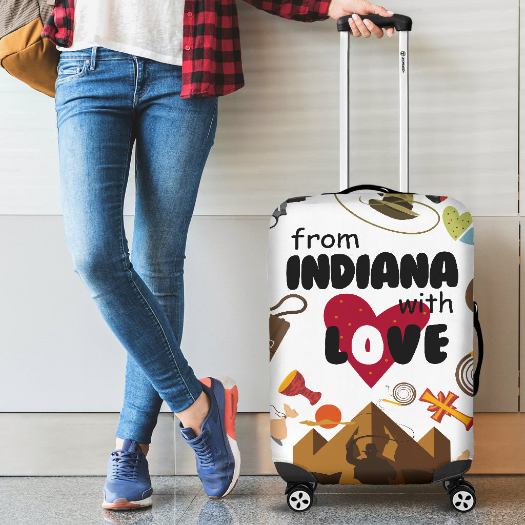 From Indiana With Love Luggage Cover