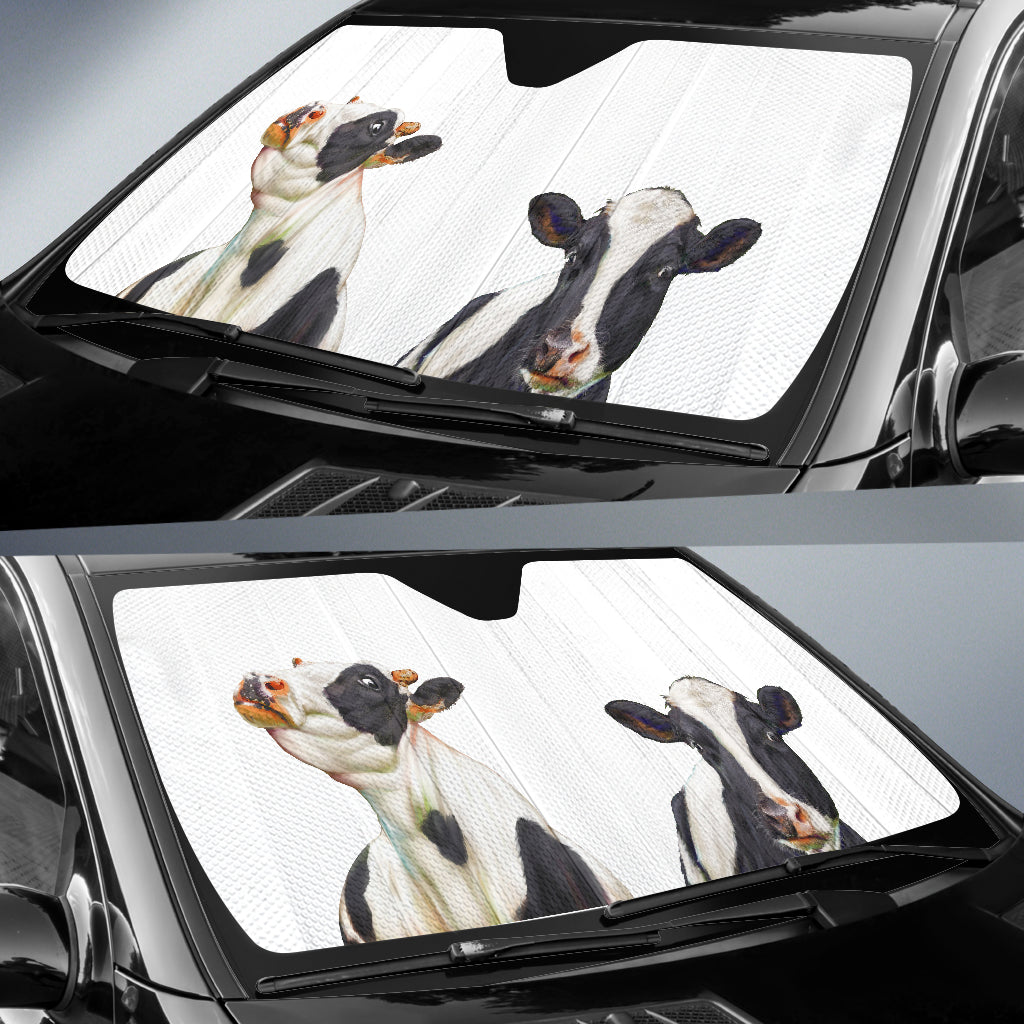 Cow Face Auto Sun Shades