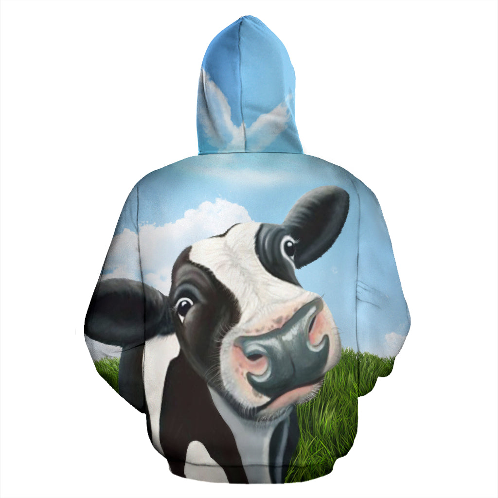 Cow And Copper All Over Hoodie