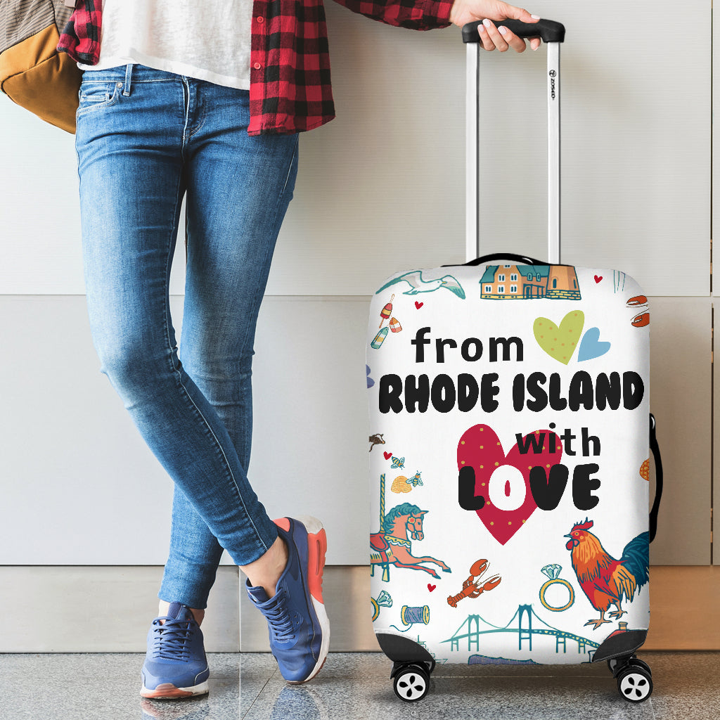 From Rhode Island With Love Luggage Cover