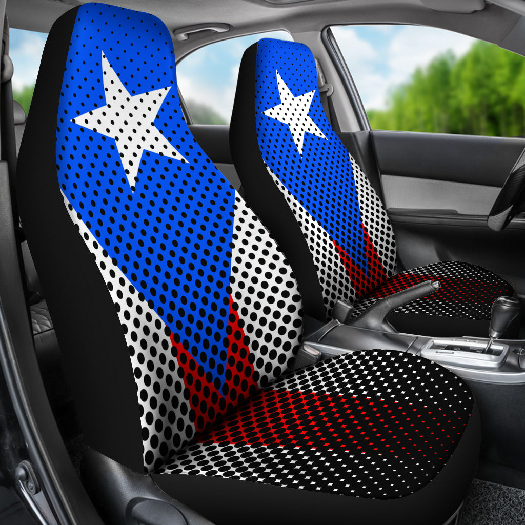 PUERTO RICAN FLAG CAR SEAT COVERS -  Teezalo LLC