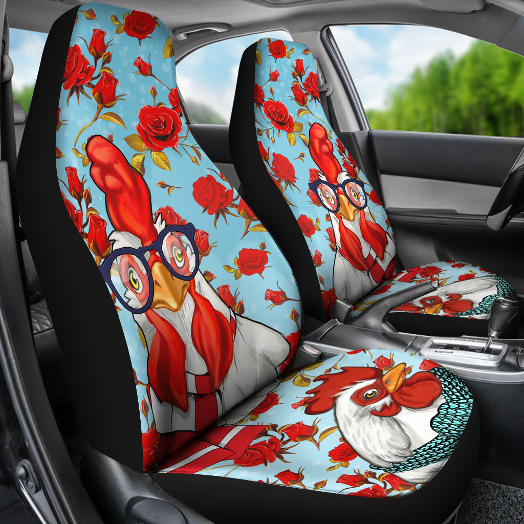 Flower Chicken Car Seat Covers