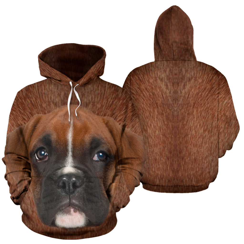 BOXER ALL OVER HOODIE -  Teezalo LLC