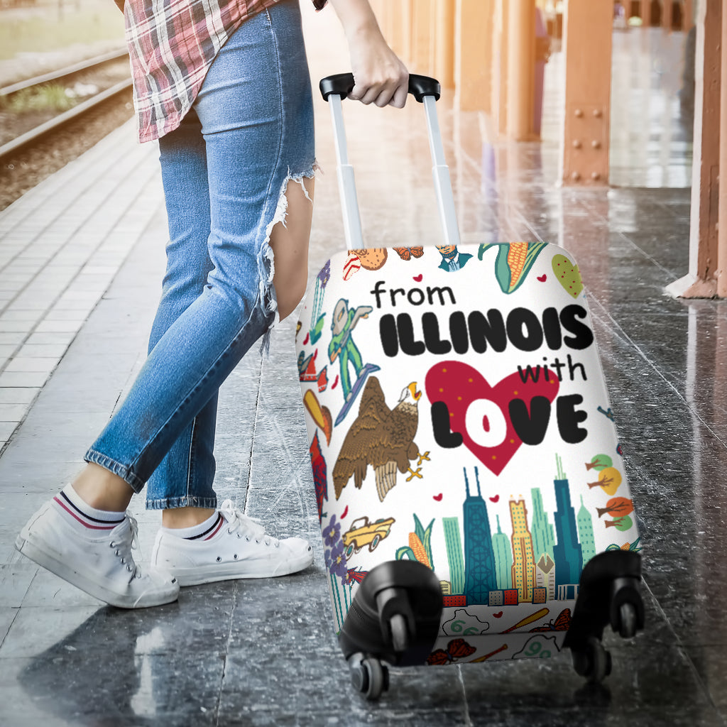 From Illinois With Love Luggage Cover