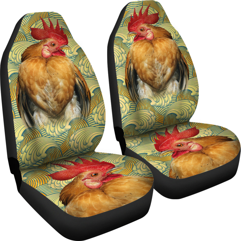 Chicken Pattern Car Seat Covers -  Teezalo LLC