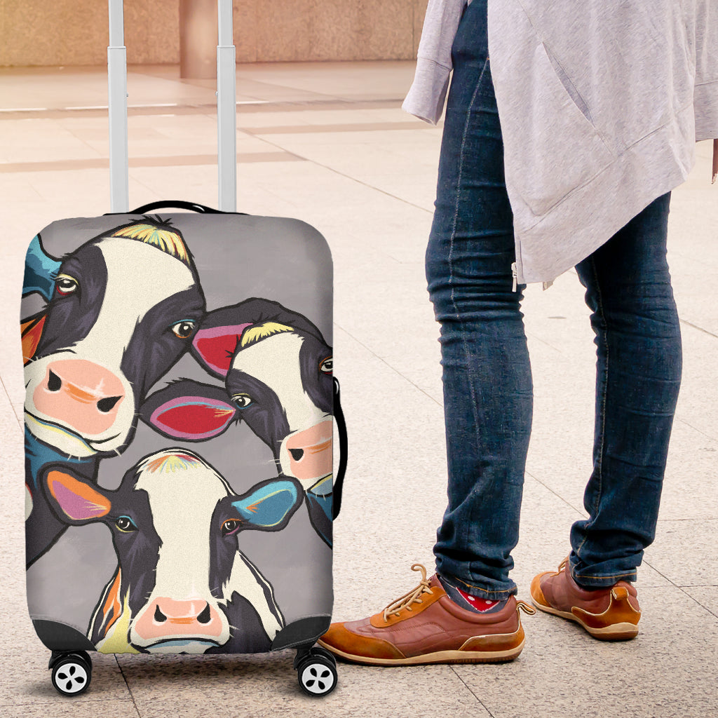 Cow Retro Luggage Covers