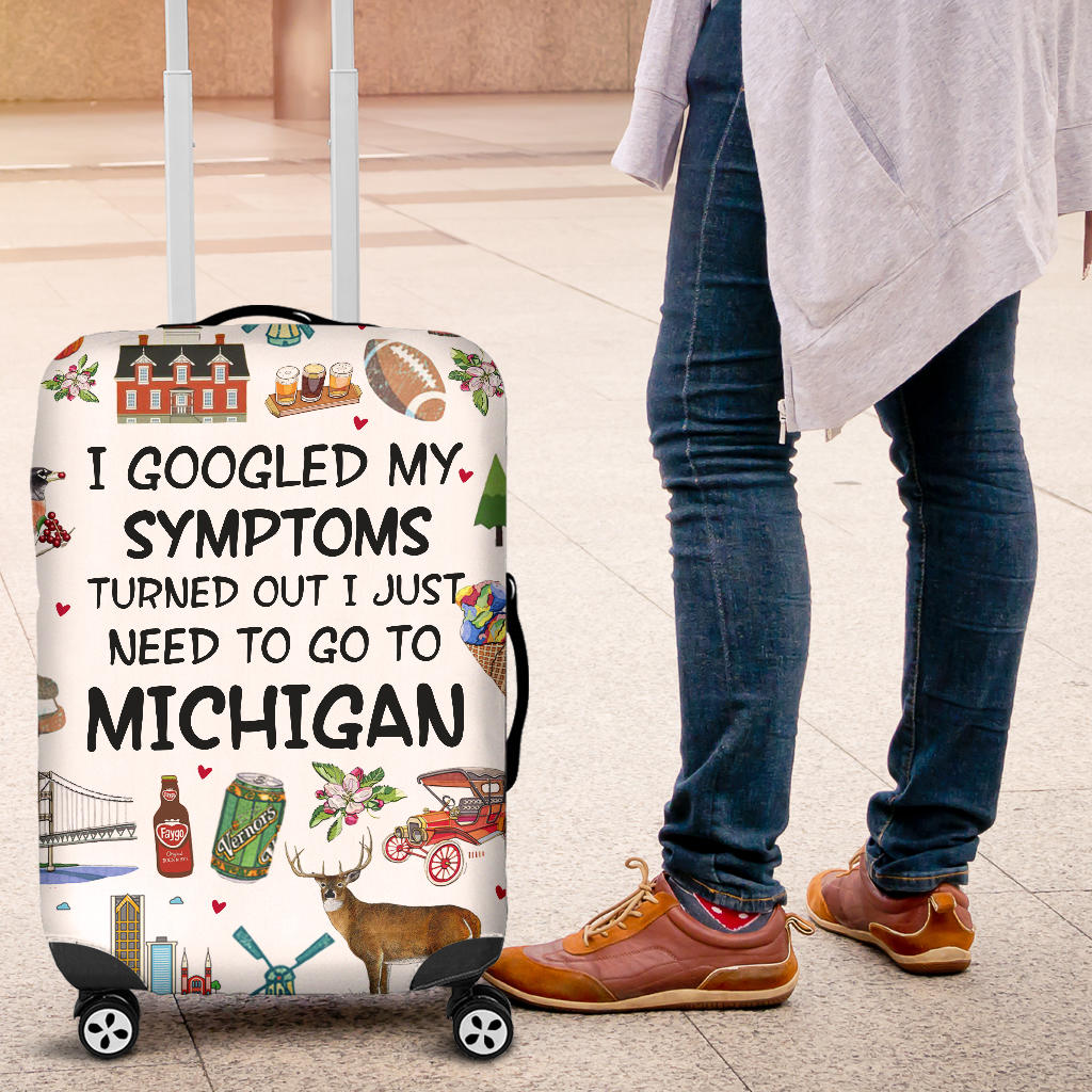I Just Need To Go To Michigan Luggage Cover