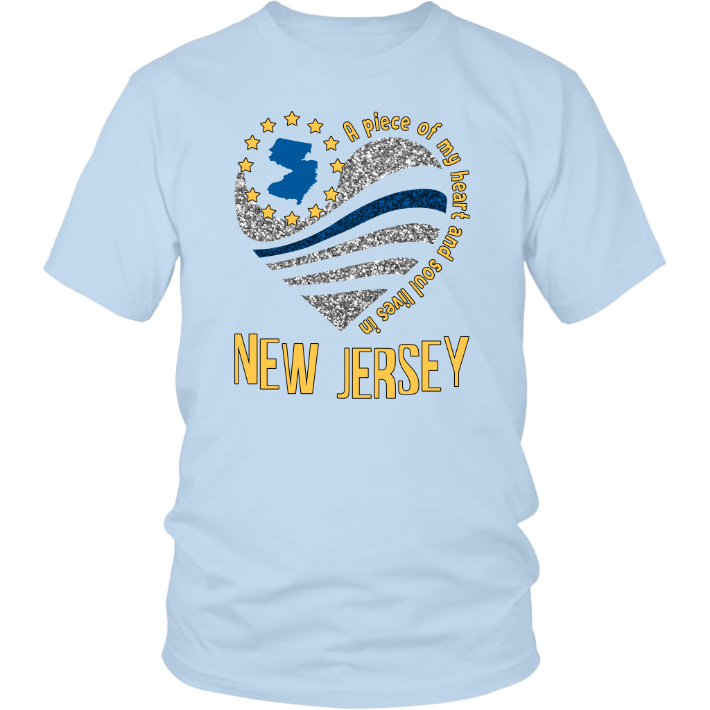 A Piece Of My Heart And Soul Lives In New Jersey T-Shirt