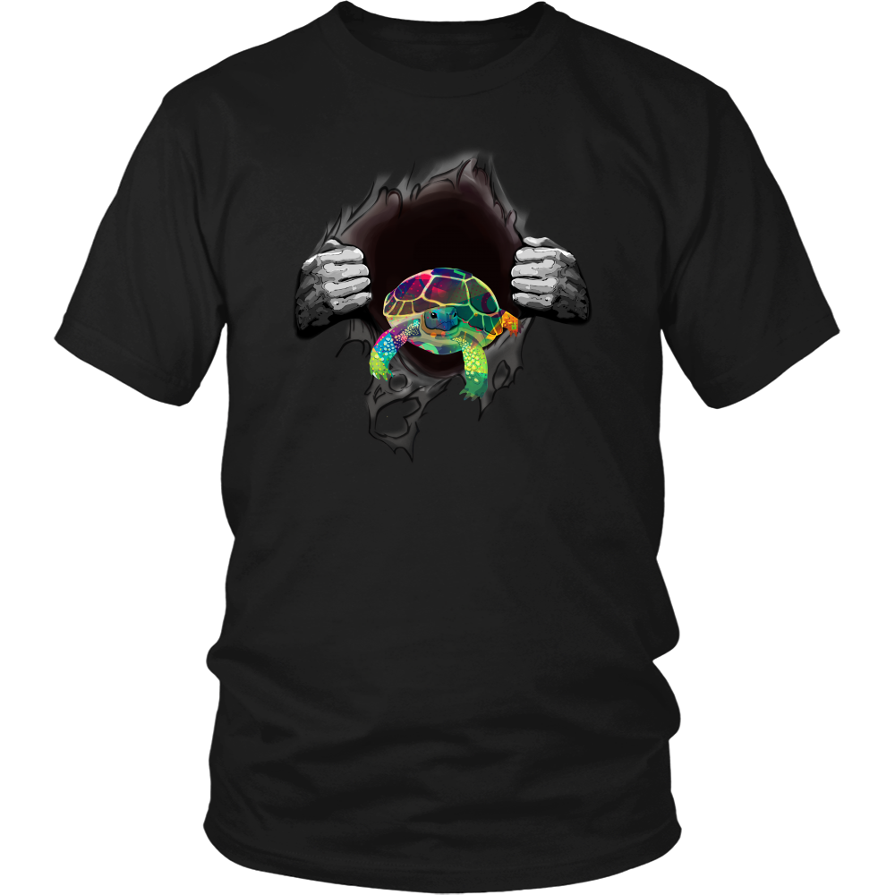 Turtle Colorful T-Shirt - T-shirt Teezalo LLC