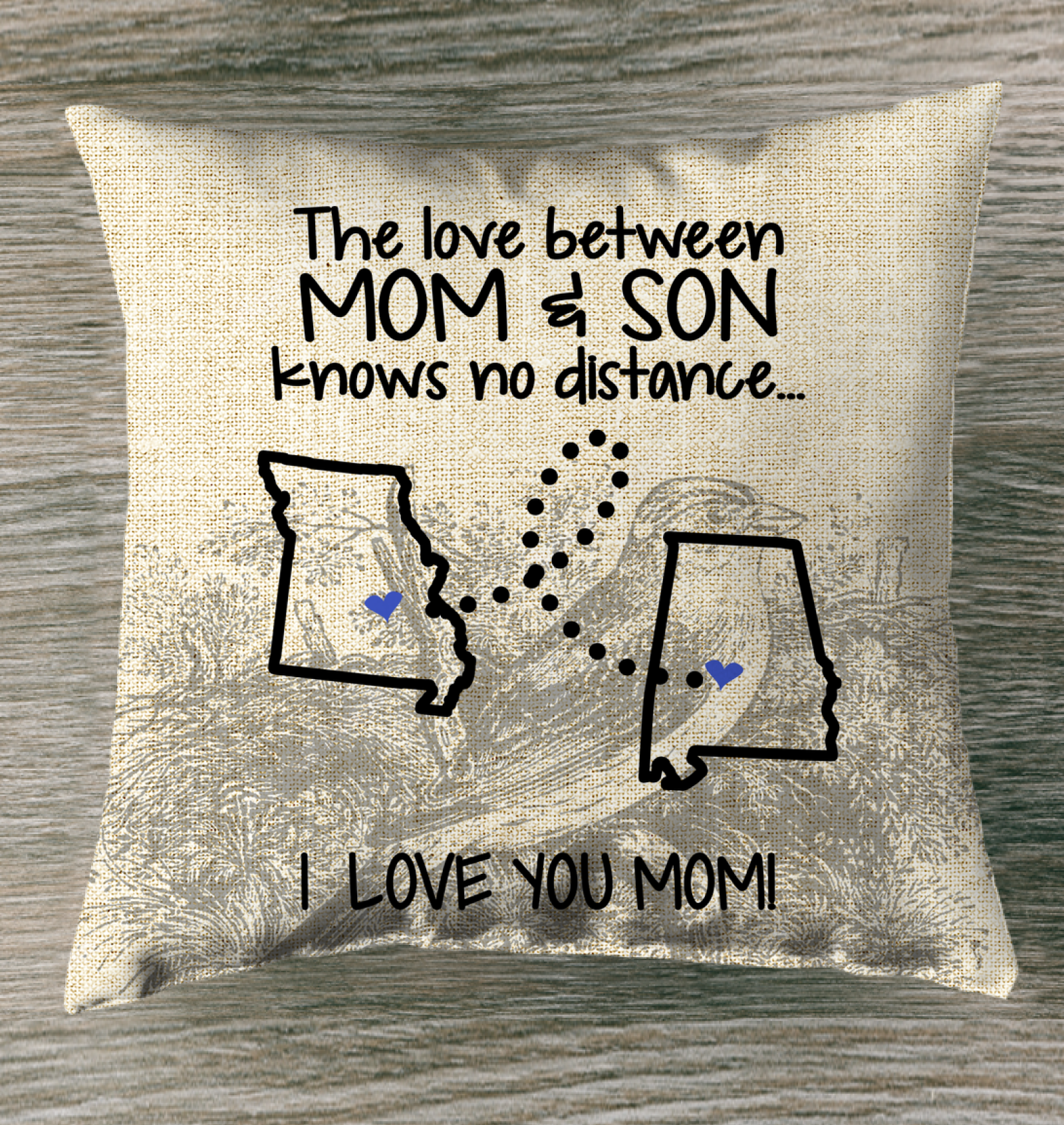 ALABAMA MISSOURI THE LOVE MOM AND SON KNOWS NO DISTANCE