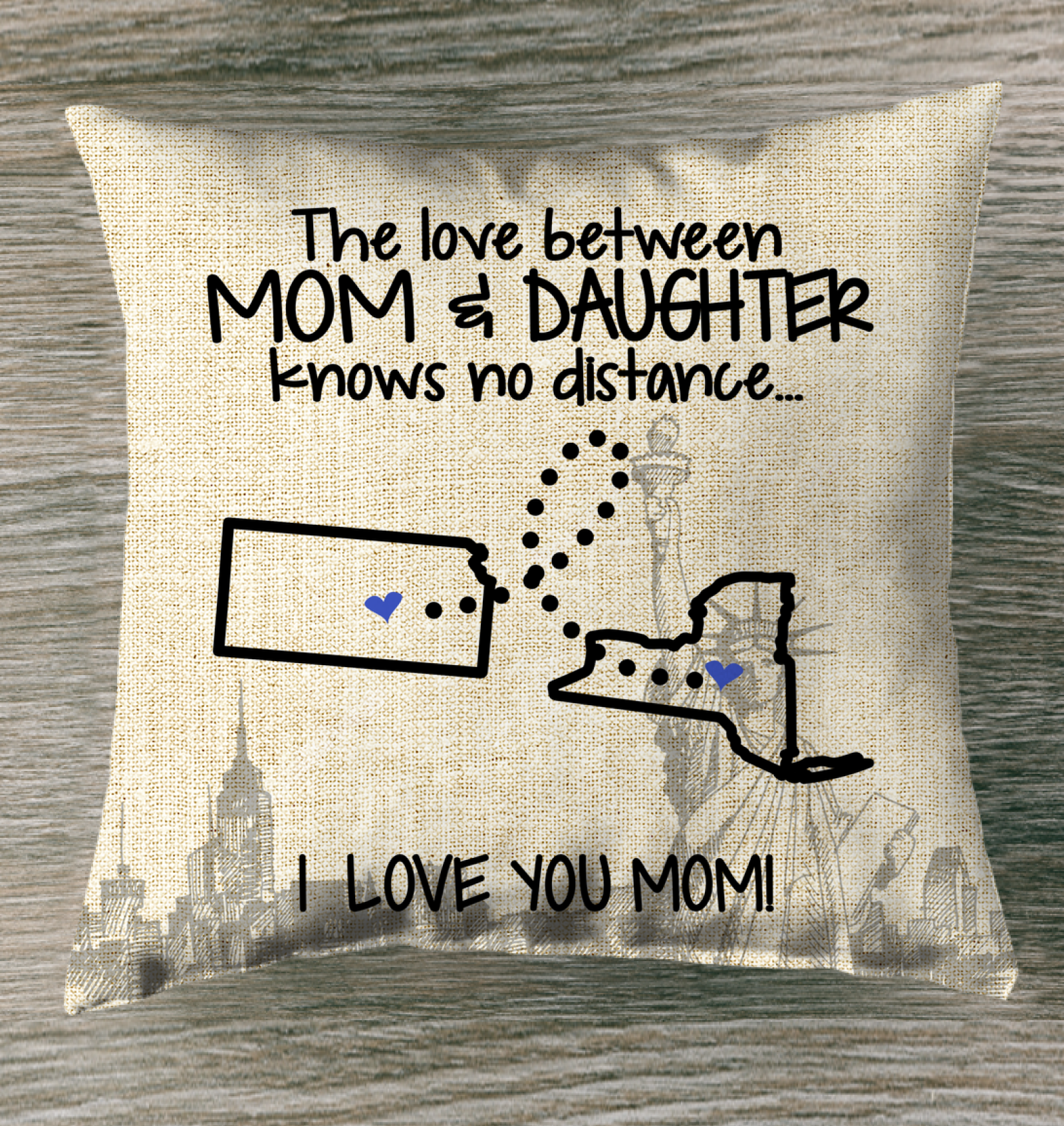 NEW YORK KANSAS THE LOVE MOM AND DAUGHTER KNOWS NO DISTANCE