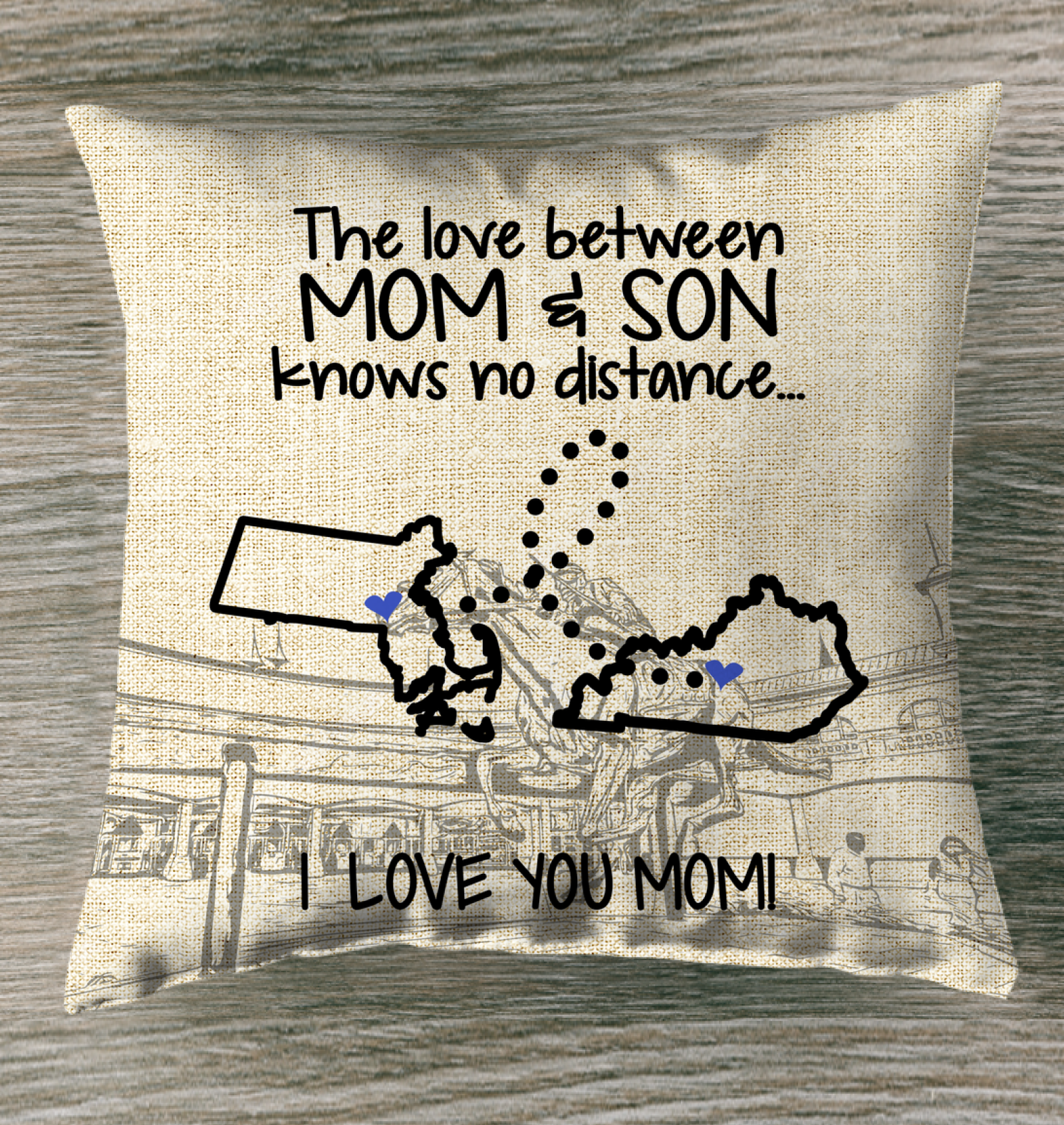 KENTUCKY MASSACHUSETTS THE LOVE MOM AND SON KNOWS NO DISTANCE