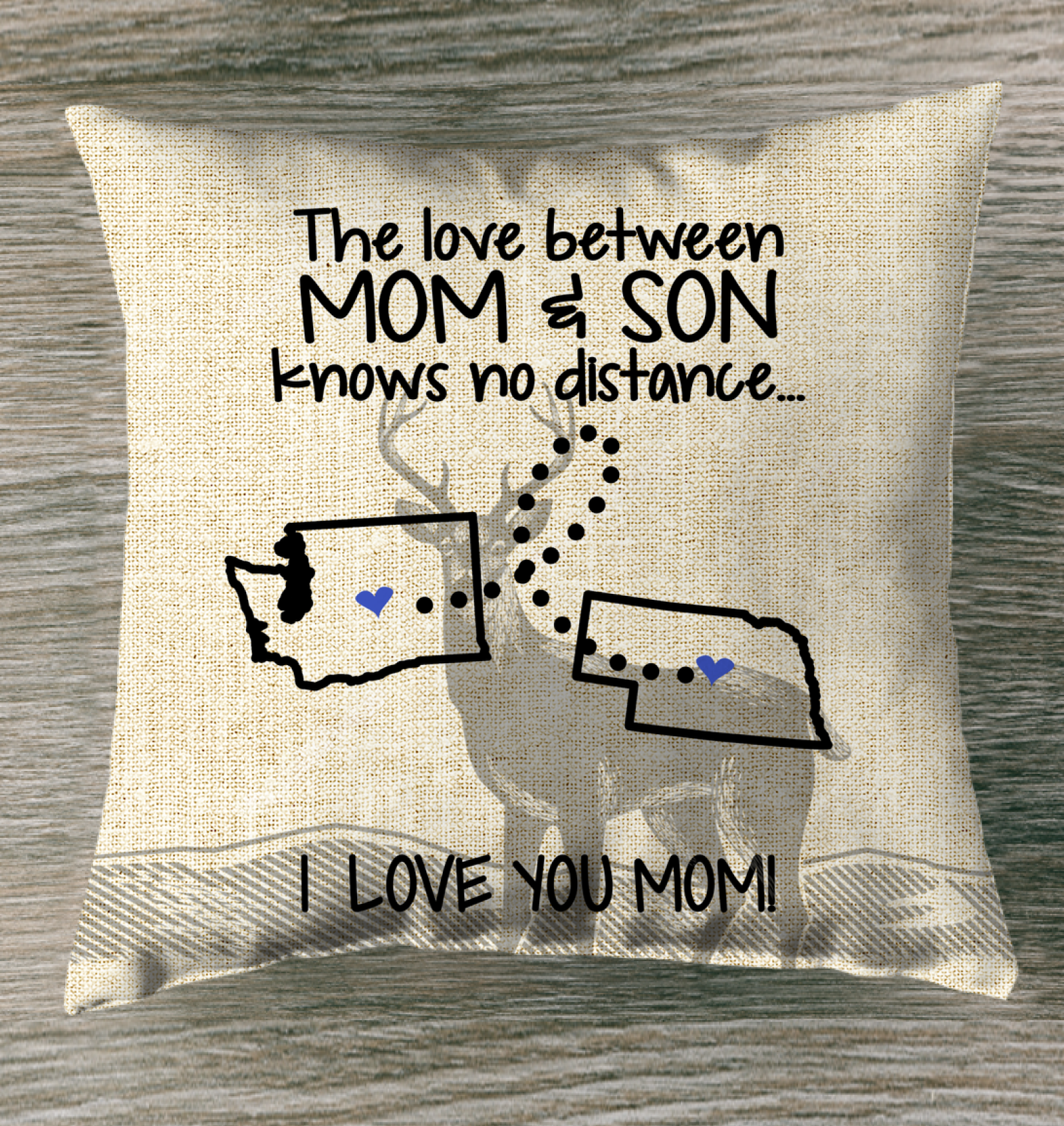 NEBRASKA WASHINGTON THE LOVE MOM AND SON KNOWS NO DISTANCE