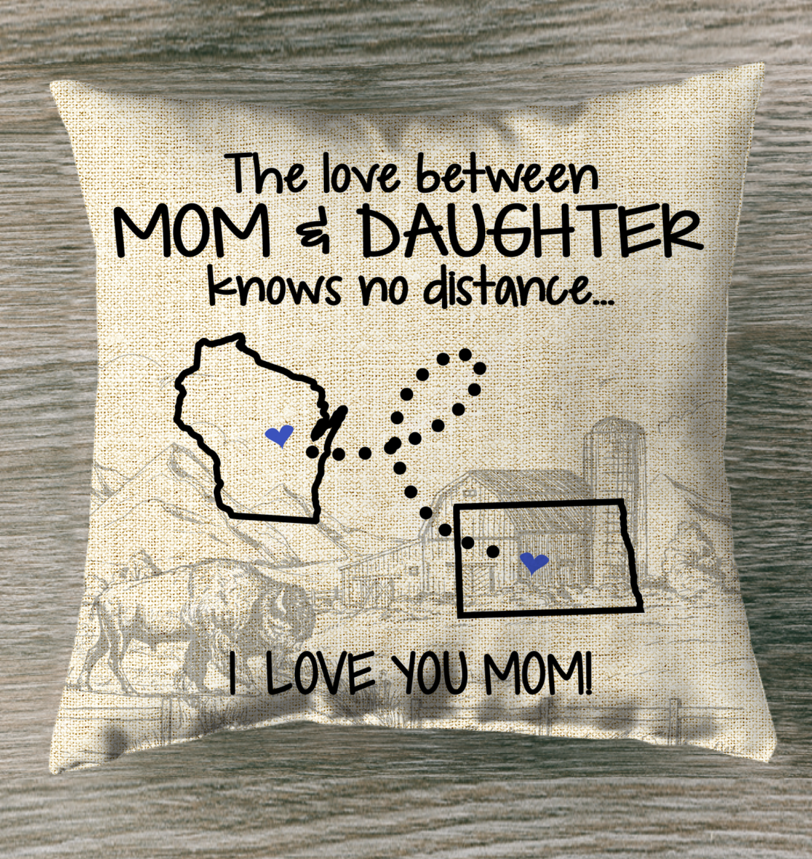 NORTH DAKOTA WISCONSIN THE LOVE MOM AND DAUGHTER KNOWS NO DISTANCE