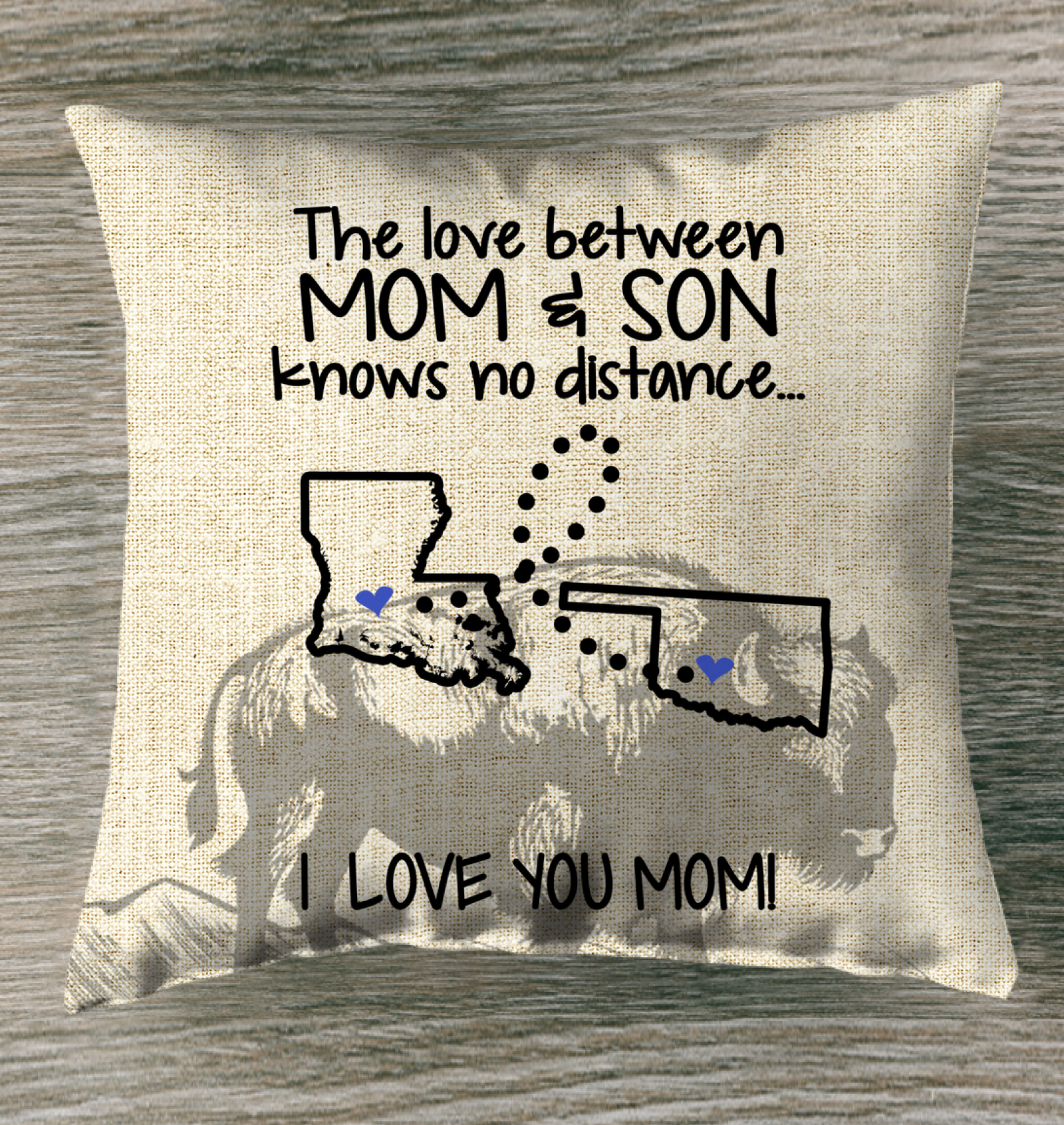 OKLAHOMA LOUISIANA THE LOVE MOM AND SON KNOWS NO DISTANCE