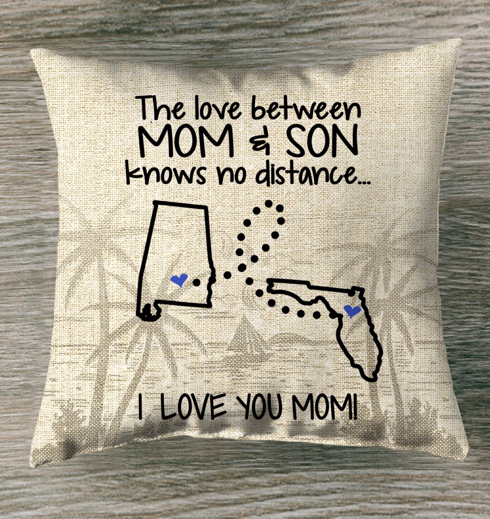 FLORIDA ALABAMA THE LOVE MOM AND SON KNOWS NO DISTANCE