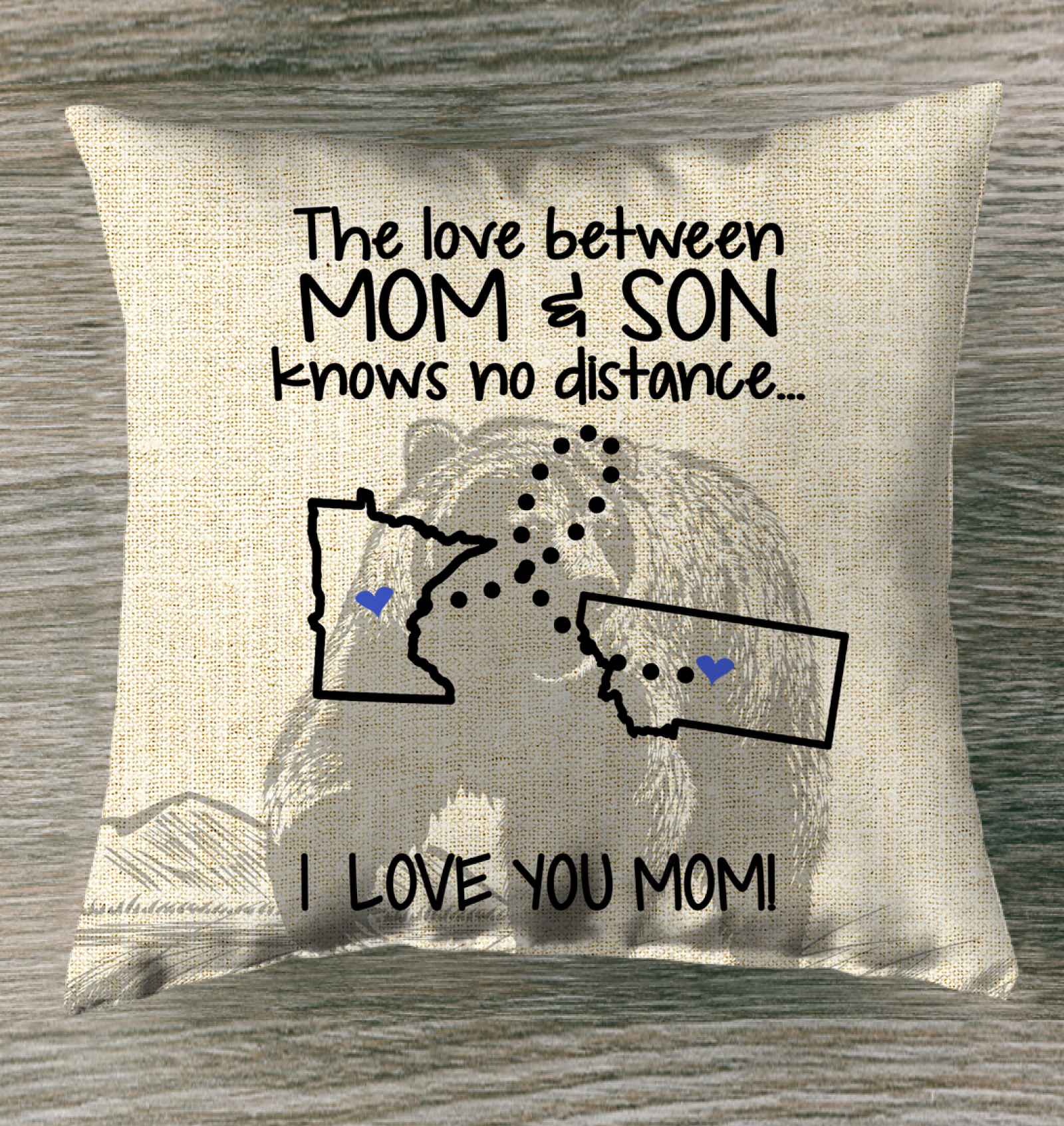 MONTANA MINNESOTA THE LOVE MOM AND SON KNOWS NO DISTANCE