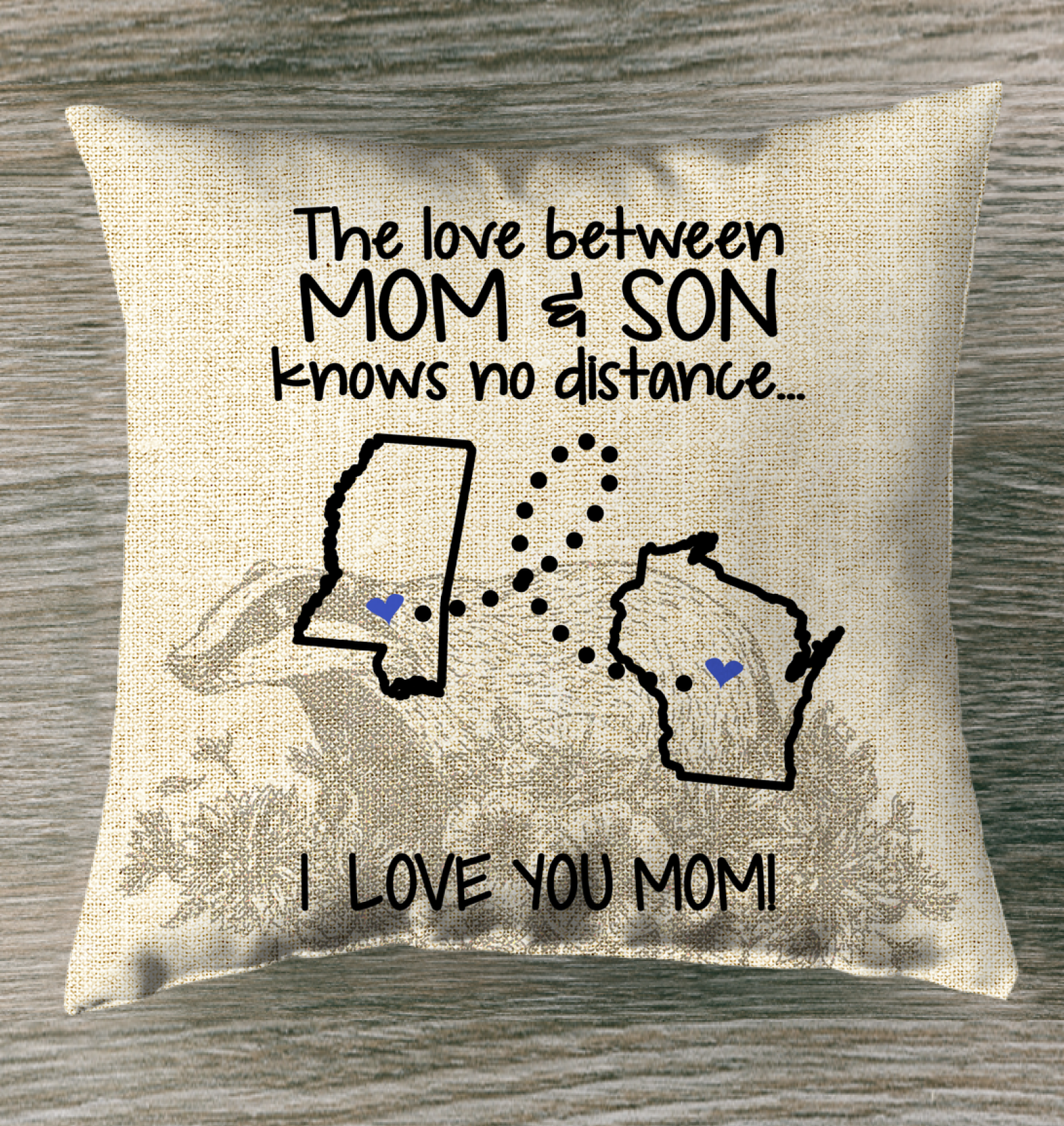 WISCONSIN MISSISSIPPI THE LOVE MOM AND SON KNOWS NO DISTANCE
