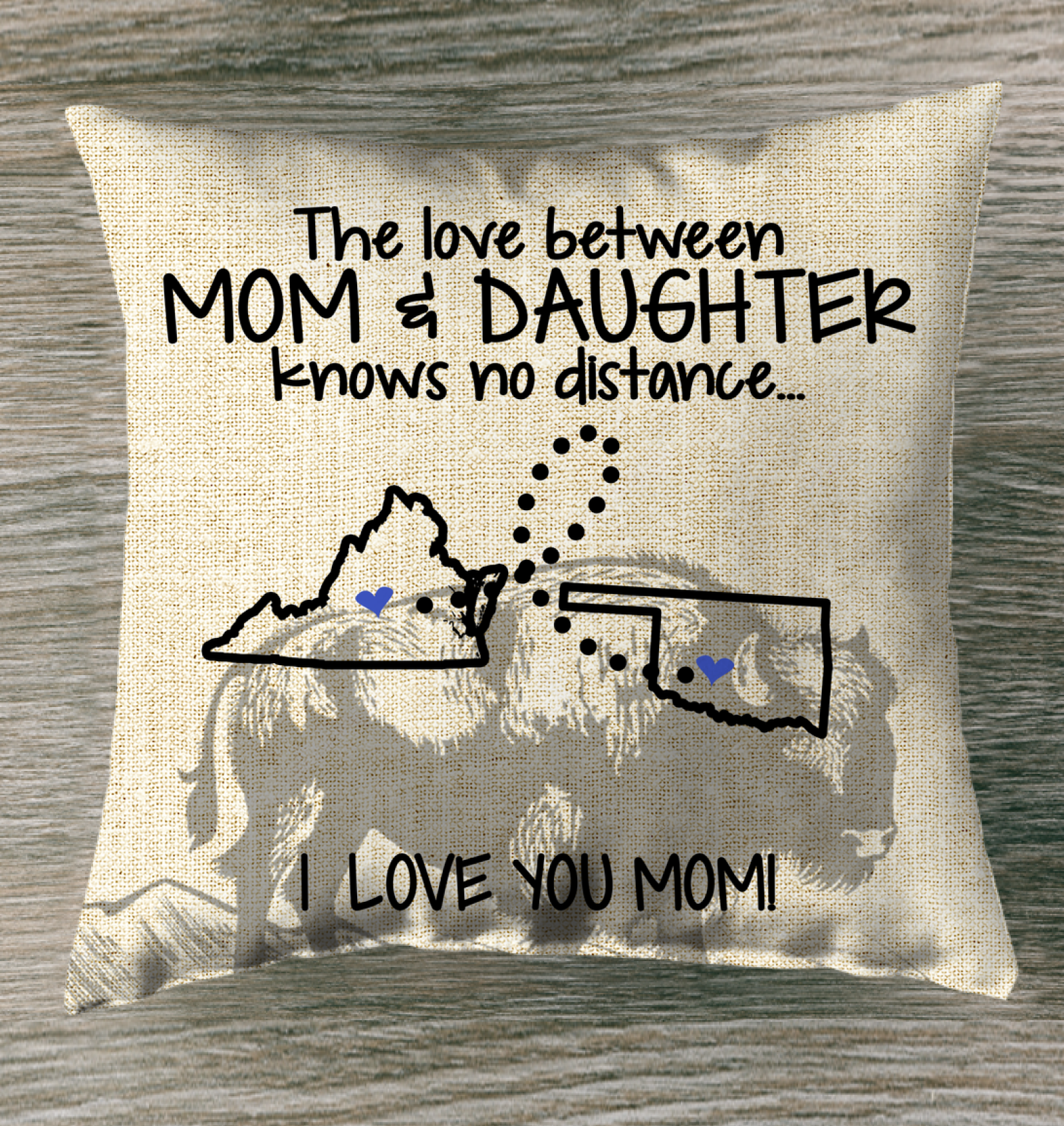 OKLAHOMA VIRGINIA THE LOVE MOM AND DAUGHTER KNOWS NO DISTANCE