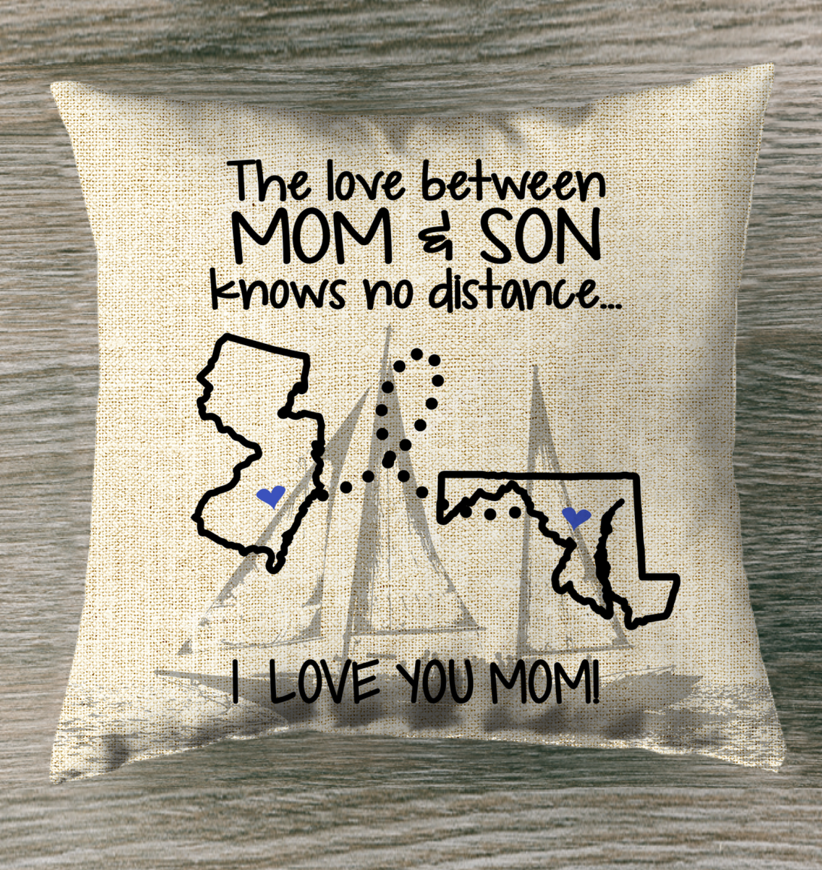 MARYLAND JERSEY THE LOVE MOM AND SON KNOWS NO DISTANCE