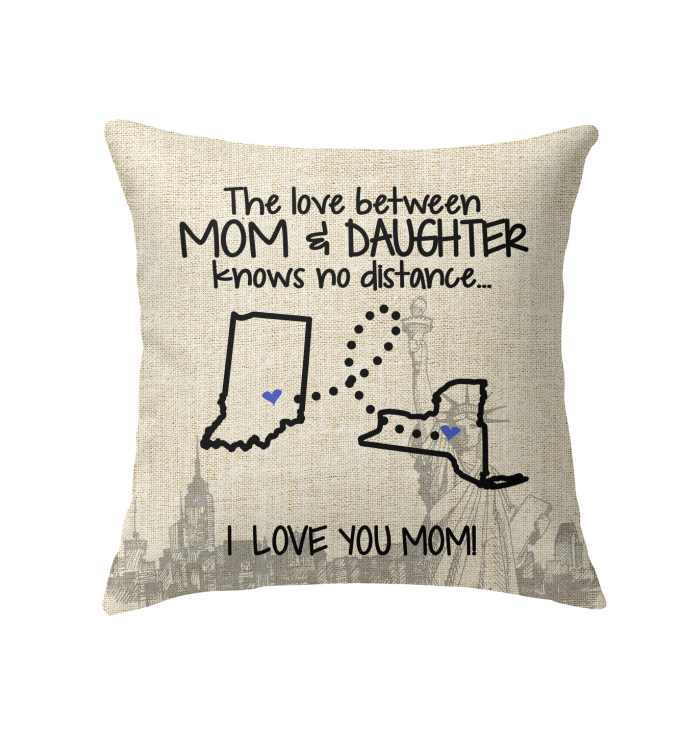 NEW YORK INDIANA THE LOVE MOM AND DAUGHTER KNOWS NO DISTANCE