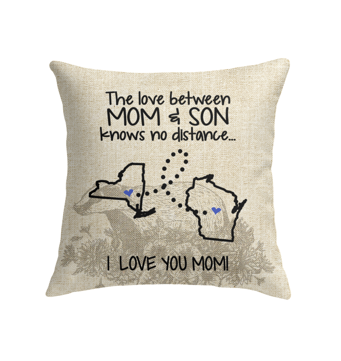 WISCONSIN NEW YORK THE LOVE MOM AND SON KNOWS NO DISTANCE