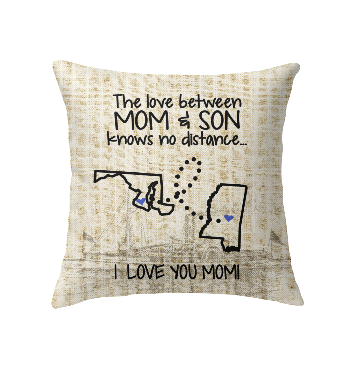 MISSISSIPPI MARYLAND THE LOVE MOM AND SON KNOWS NO DISTANCE