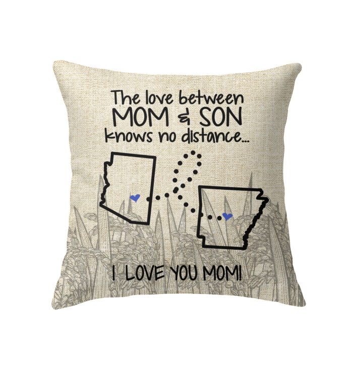 Arkansas Arizona The Love Between Mom And Son Pillow