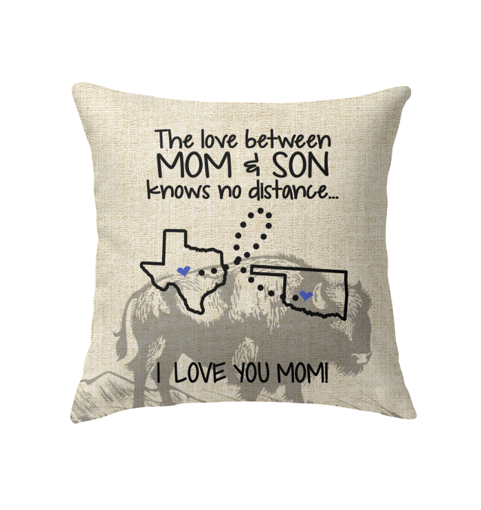 OKLAHOMA TEXAS THE LOVE MOM AND SON KNOWS NO DISTANCE