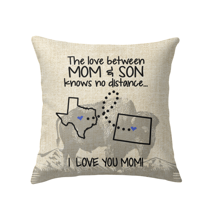 WYOMING TEXAS THE LOVE MOM AND SON KNOWS NO DISTANCE