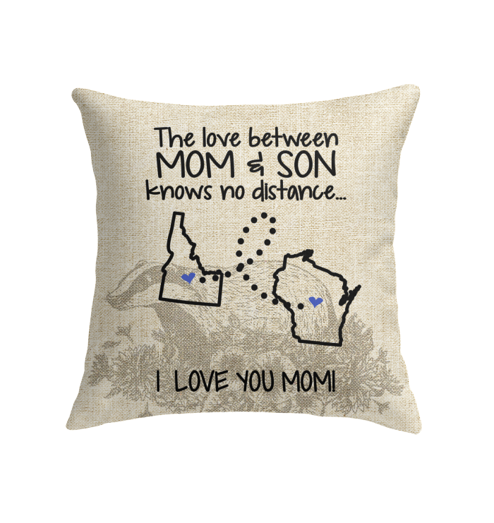 WISCONSIN IDAHO THE LOVE MOM AND SON KNOWS NO DISTANCE