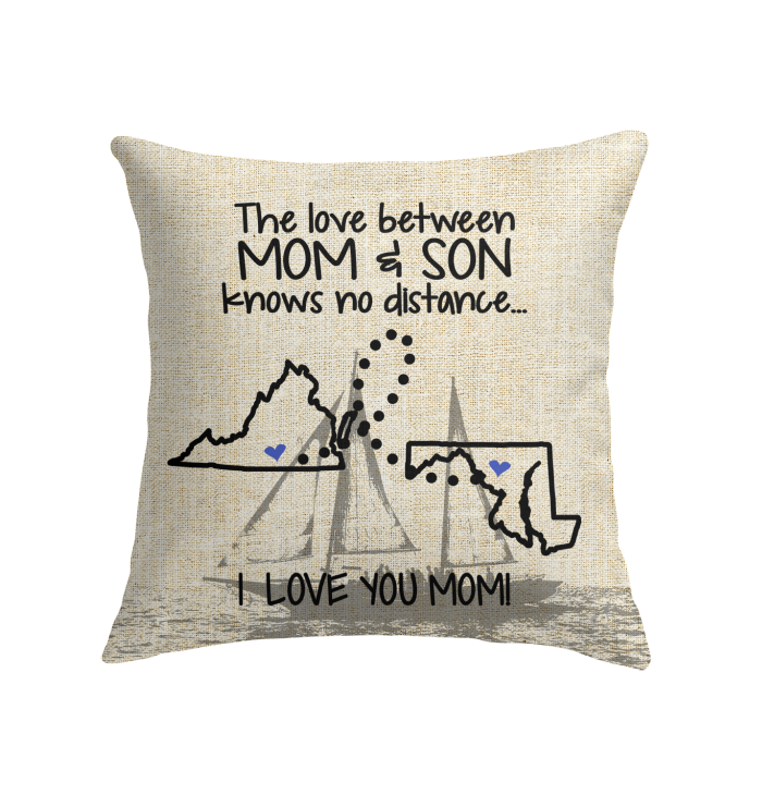 MARYLAND VIRGINIA THE LOVE MOM AND SON KNOWS NO DISTANCE