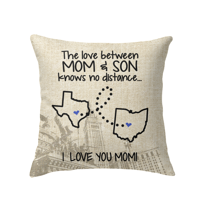 OHIO TEXAS THE LOVE MOM AND SON KNOWS NO DISTANCE