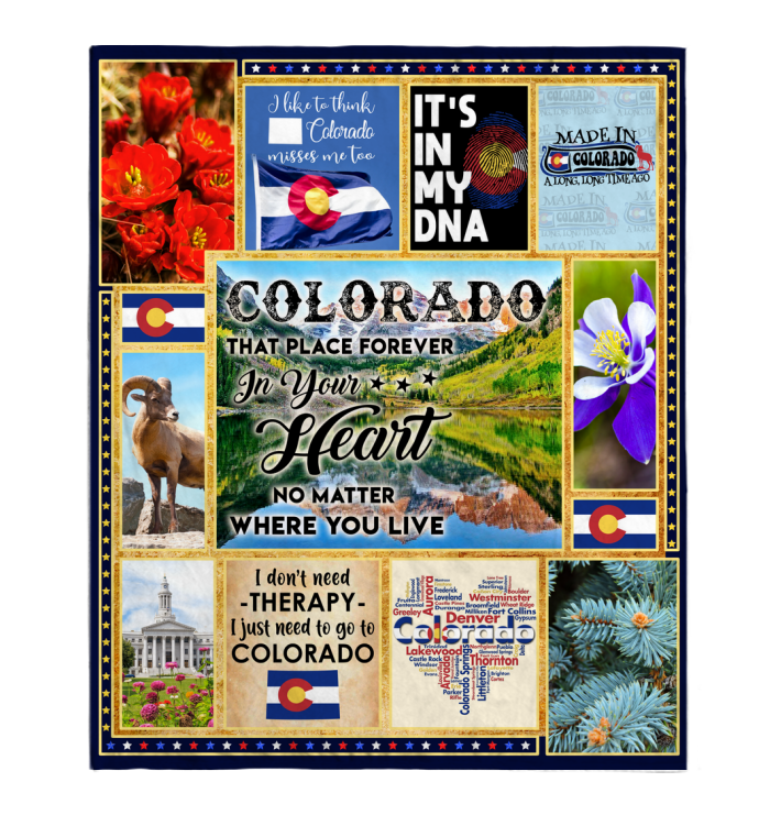 Colorado That Place Forever In Your Heart Blanket