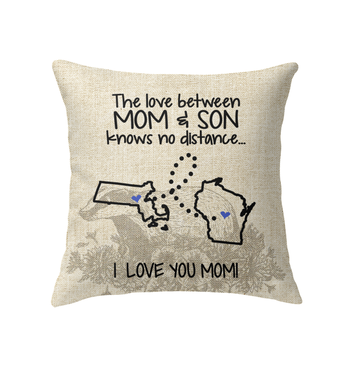 WISCONSIN MASSACHUSETTS THE LOVE MOM AND SON KNOWS NO DISTANCE