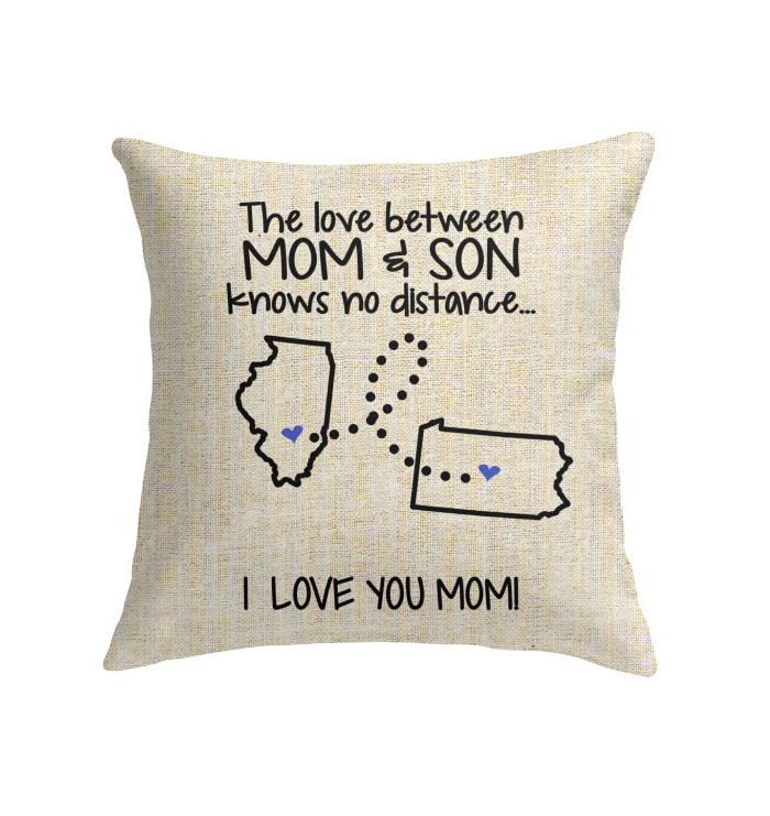 PENNSYLVANIA ILLINOIS THE LOVE MOM AND SON KNOWS NO DISTANCE