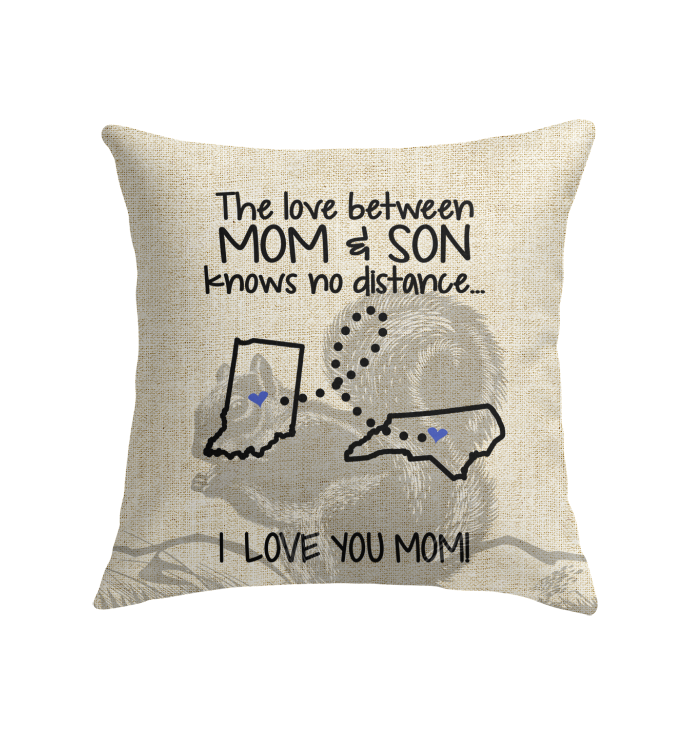 NORTH CAROLINA INDIANA THE LOVE MOM AND SON KNOWS NO DISTANCE