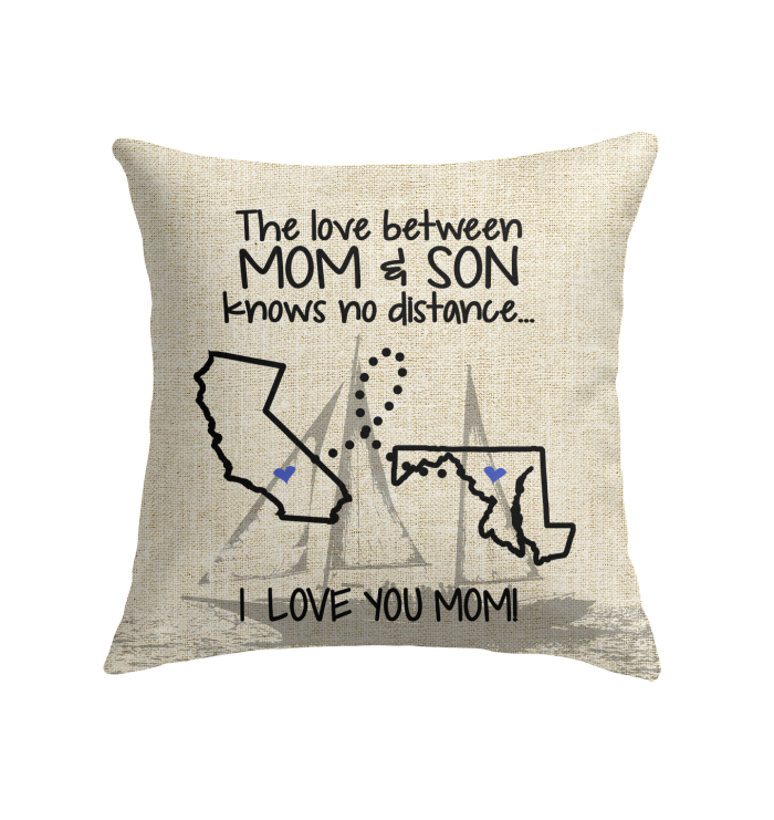 MARYLAND CALIFORNIA THE LOVE MOM AND SON KNOWS NO DISTANCE