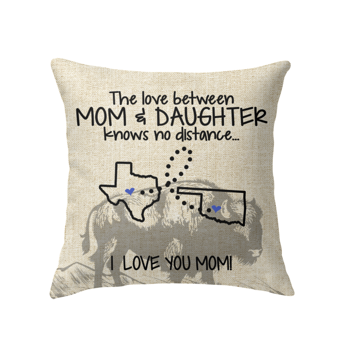 OKLAHOMA TEXAS THE LOVE MOM AND DAUGHTER KNOWS NO DISTANCE