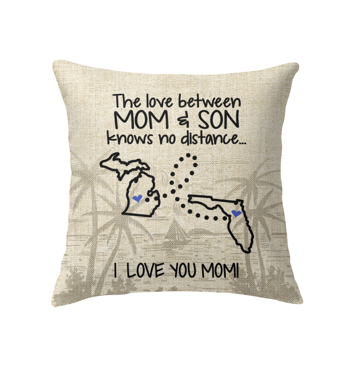 FLORIDA MICHIGAN THE LOVE MOM AND SON KNOWS NO DISTANCE