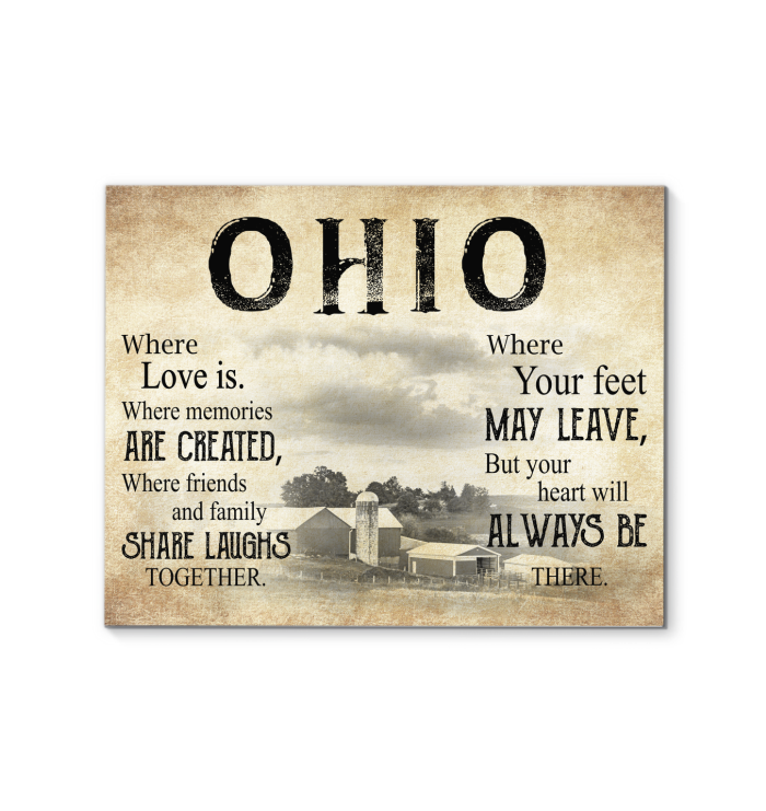 OHIO WHERE LOVE IS WHERE MEMORIES ARE CREATED