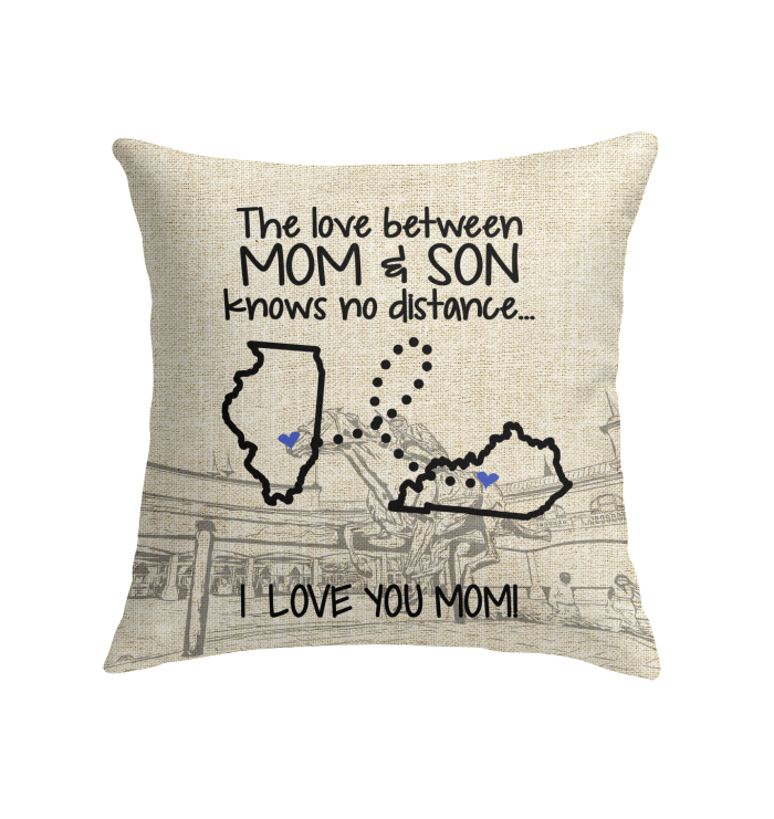 KENTUCKY ILLINOIS THE LOVE MOM AND SON KNOWS NO DISTANCE