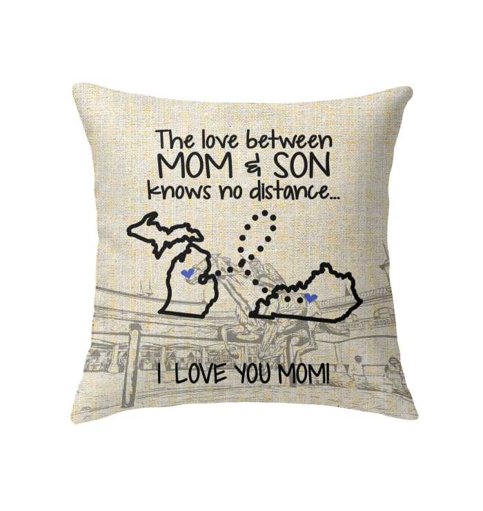 KENTUCKY MICHIGAN THE LOVE MOM AND SON KNOWS NO DISTANCE