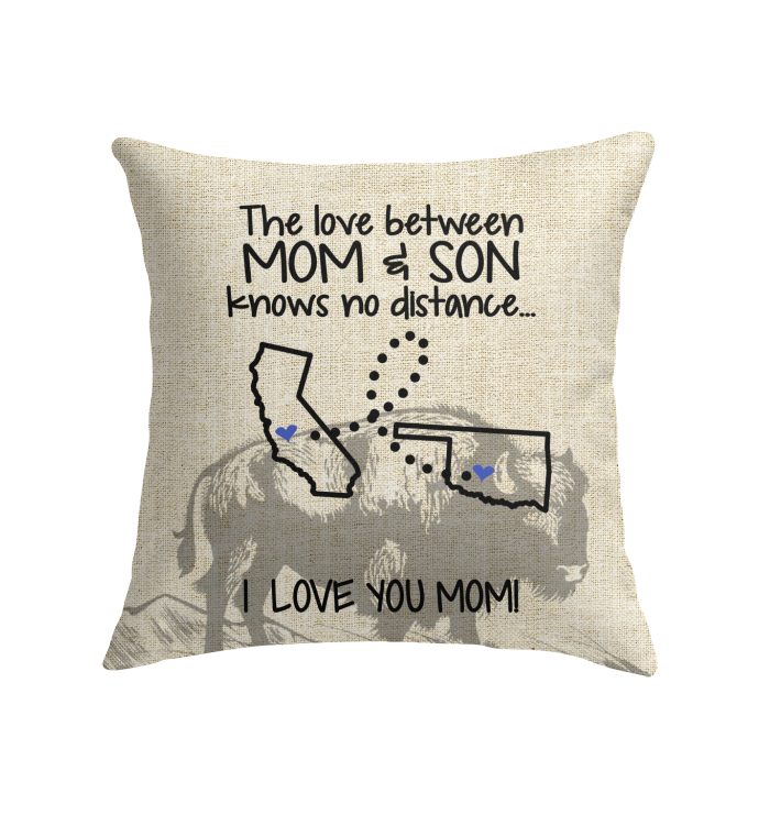 OKLAHOMA CALIFORNIA THE LOVE MOM AND SON KNOWS NO DISTANCE