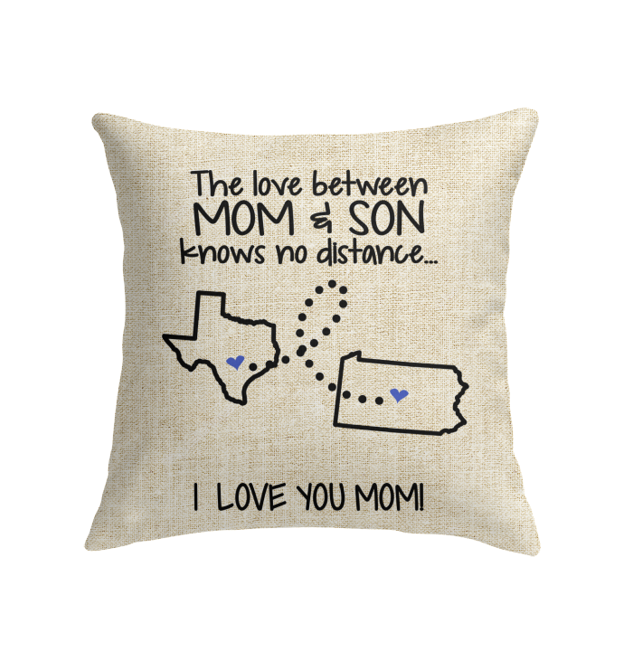 PENNSYLVANIA TEXAS THE LOVE MOM AND SON KNOWS NO DISTANCE