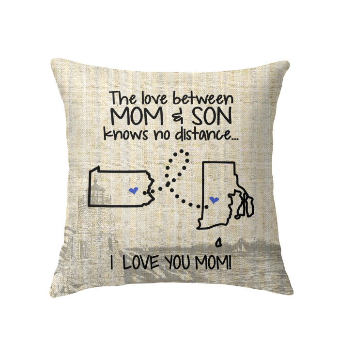 RHODE ISLAND PENNSYLVANIA THE LOVE MOM AND SON KNOWS NO DISTANCE
