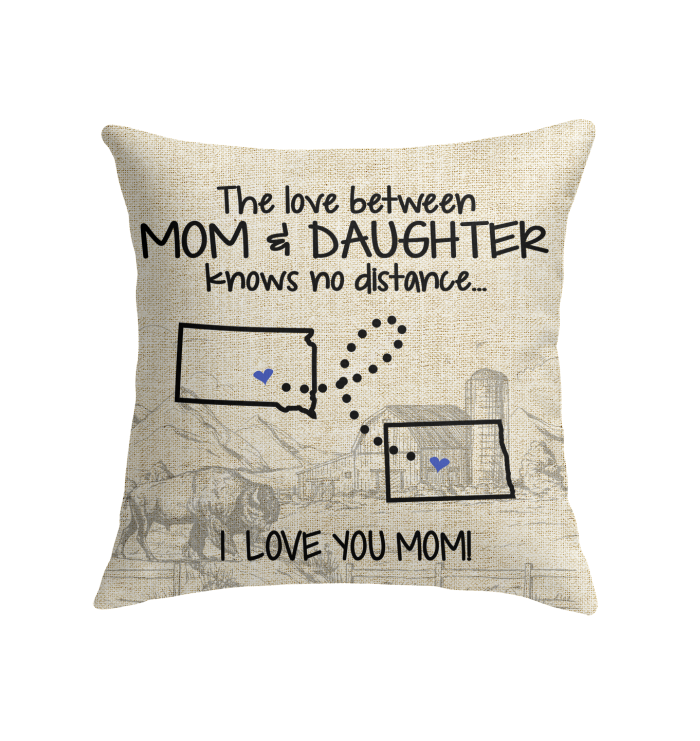 NORTH DAKOTA SOUTH DAKOTA THE LOVE MOM AND DAUGHTER KNOWS NO DISTANCE